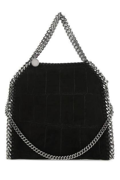 Black shaggy deer mini Falabella crossbody bag
