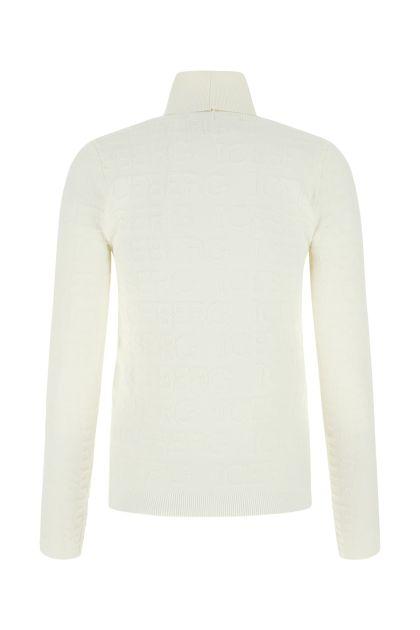 White viscose blend sweater