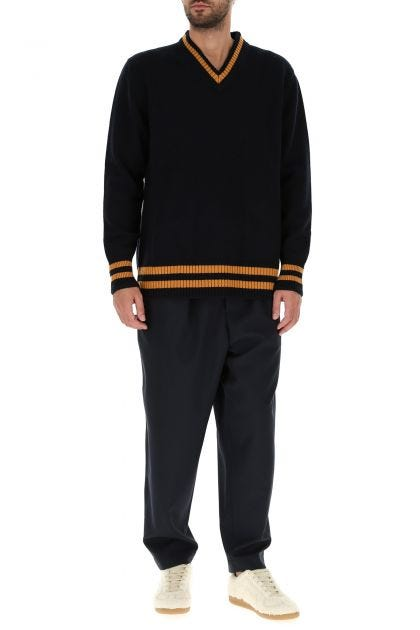 Midnight blue wool oversize sweater
