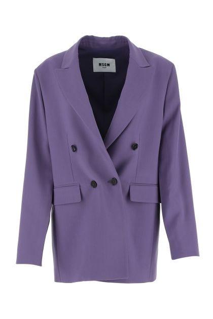 Purple stretch viscose blend oversize blazer