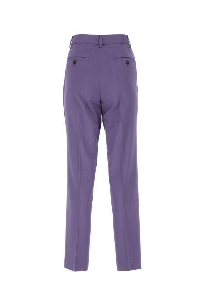 Purple stretch viscose blend cigarette pant
