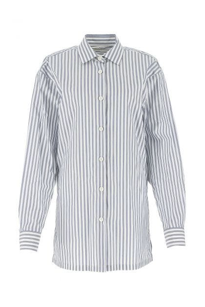 Embroidered cotton oversize shirt