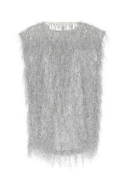 Silver nylon blend Cuzco oversize top