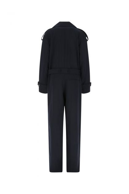 Midnight blue polyester blend Pensa jumpsuit