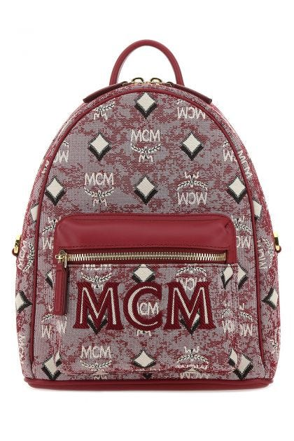 Embroidered fabric backpack