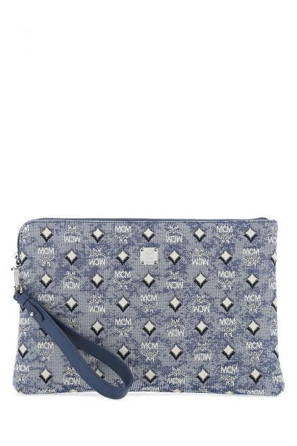 Embroidered fabric Wristlet clutch