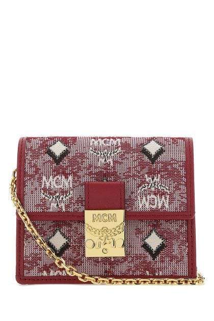 Embroidered fabric mini crossbody bag