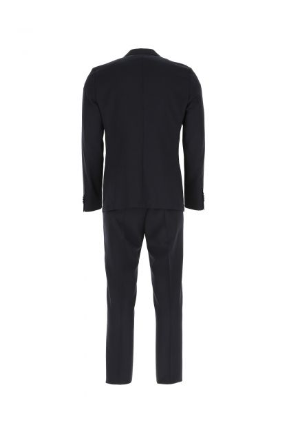 Midnight blue stretch wool blend suit