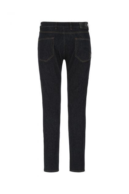 Dark blue stretch cotton blend Rock jeans