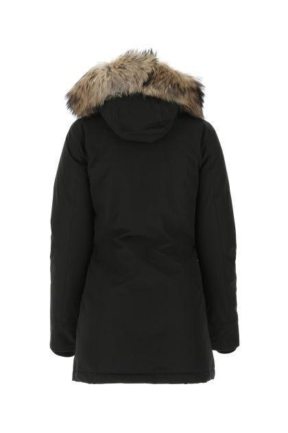 Black cotton blend Arctic down jacket