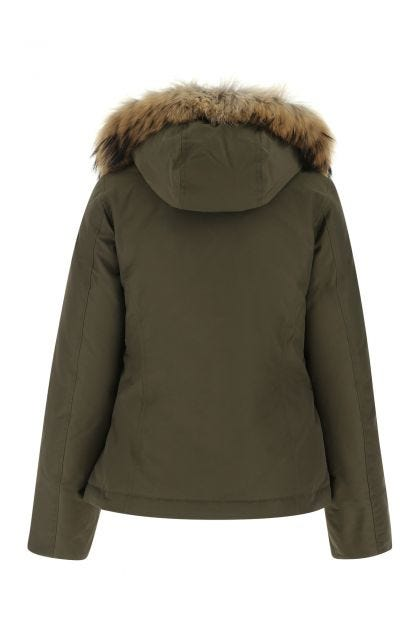 Army green cotton blend Arctic down jacket