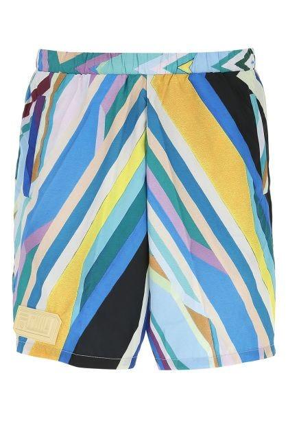 Printed polyester Oceano bermuda shorts