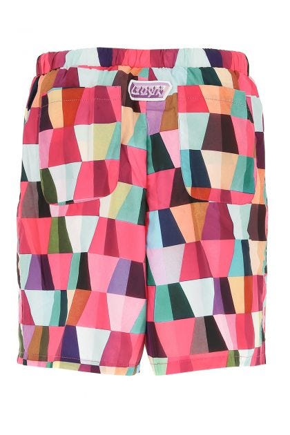 Printed polyester Teti bermuda shorts
