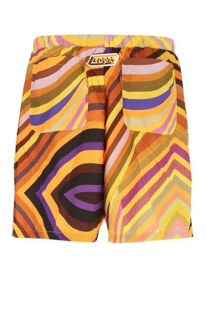 Printed polyester Crono bermuda shorts