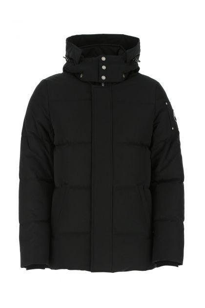 Black cotton blend Piperstone down jacket