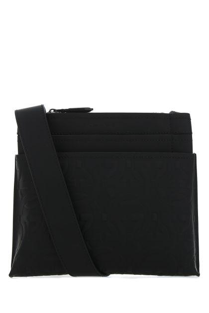 Black leather Brooklyn crossbody bag