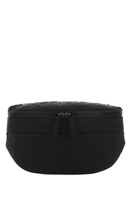 Black leather Brooklyn belt bag