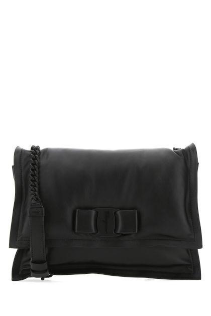 Black leather Viva shoulder bag