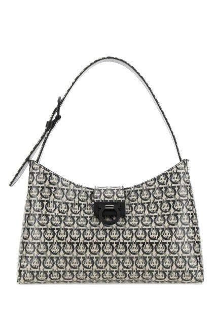 Printed canvas Trifolio S shoulder bag