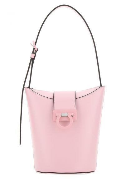 Pink leather Trifolio S bucket bag