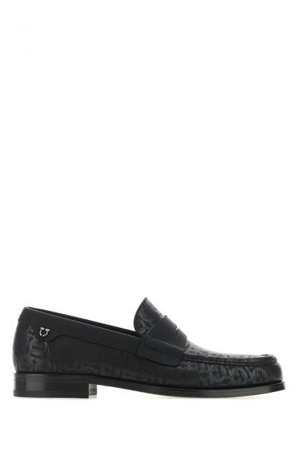 Black leather Port loafers