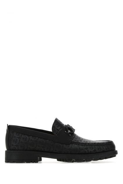 Black leather David loafers