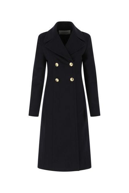 Midnight blue wool blend coat