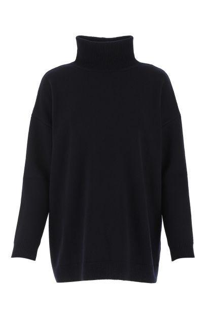 Midnight blue cashmere oversize sweater