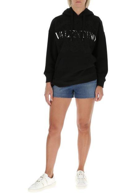 Black cotton oversize sweatshirt
