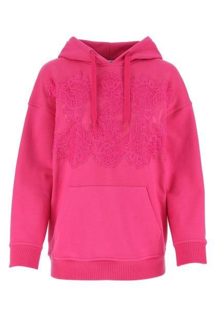 Fuchsia cotton oversize sweatshirt