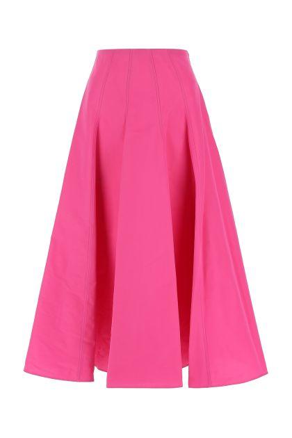 Fuchsia cotton blend skirt