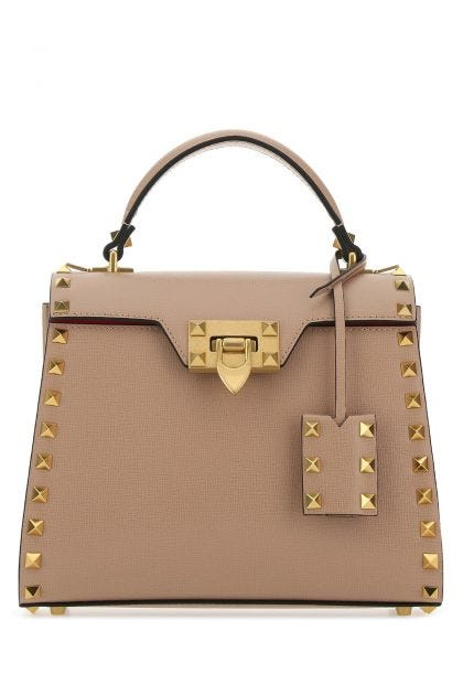 Powder pink leather Rockstud Alcove handbag