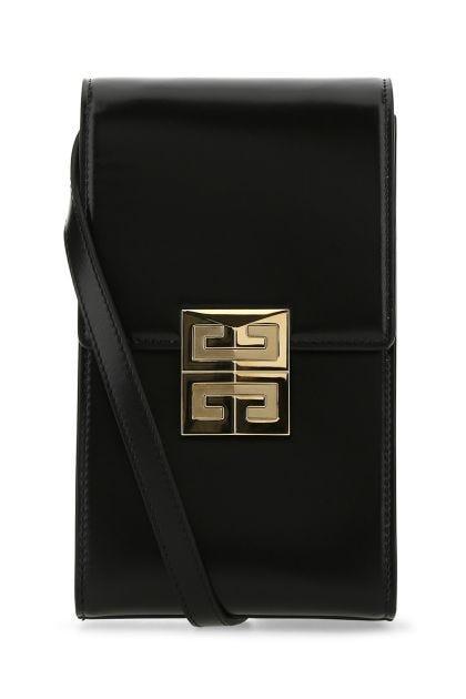Black leather mini 4G Vertical crossbody bag
