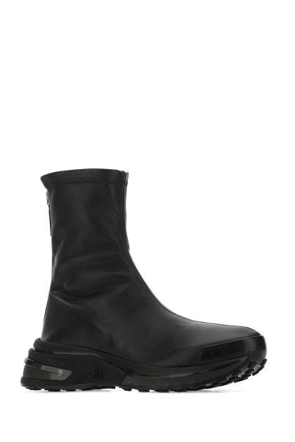 Black leather Giv 1 boots