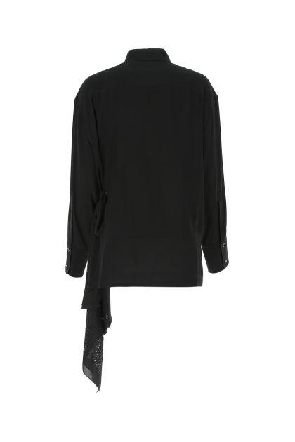 Black crepe oversize shirt