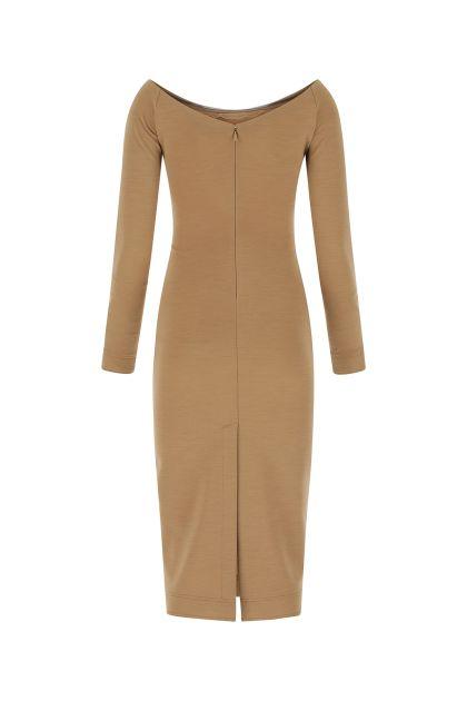 Biscuit stretch wool blend dress