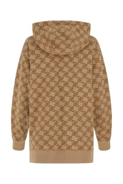 Printed cotton oversize sweatshirt