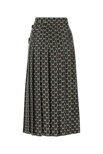 Printed crepe Berger skirt