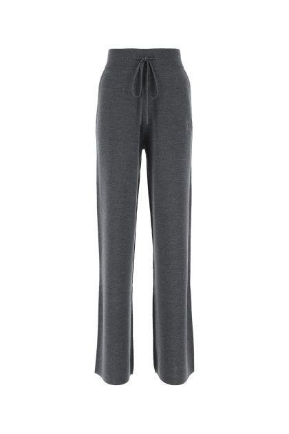 Melange dark grey Giove wide leg pant