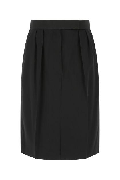 Black stretch wool Nuraghe skirt