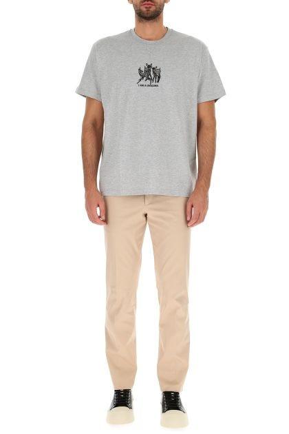 Melange grey cotton oversize t-shirt