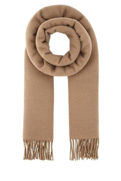 Biscuit wool blend scarf