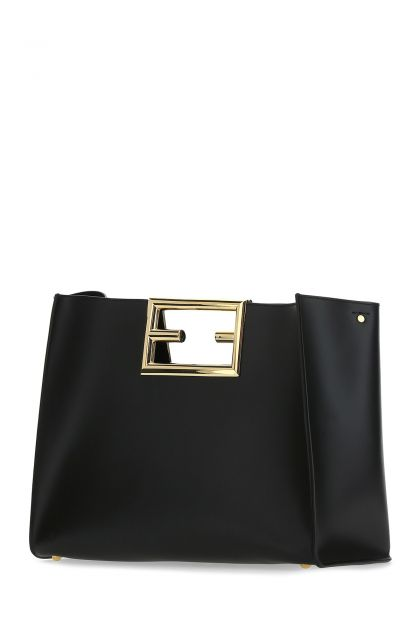 Black leather medium Fendi Way handbag