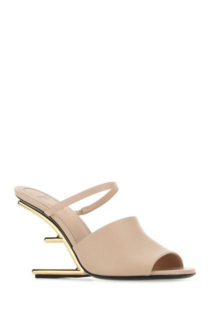 Skin pink leather Fendi First mules