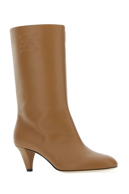 Camel leather Karligraphy boots