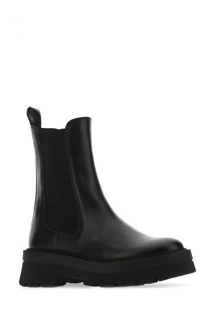 Black leather Denory boots