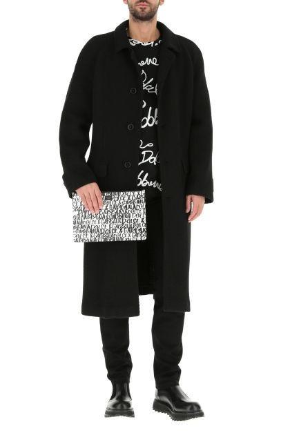 Black acrylic blend coat