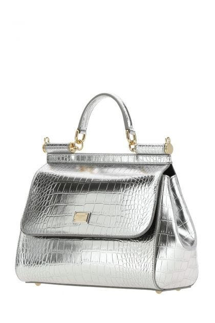 Silver leather medium Sicily handbag