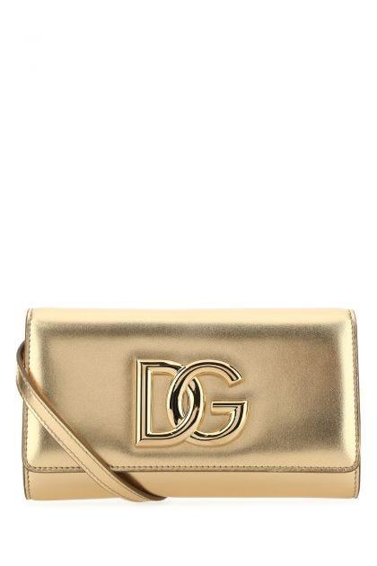 Gold nappa leather 3.5 clutch