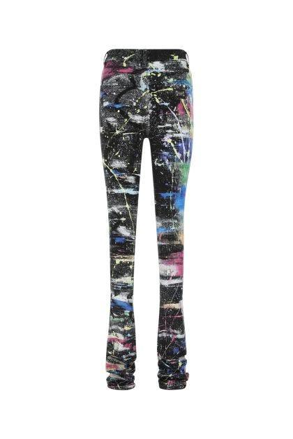 Embellished stretch denim jeans